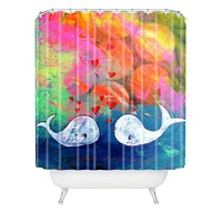 Sophia Buddenhagen I Whale Always Love You Shower Curtain