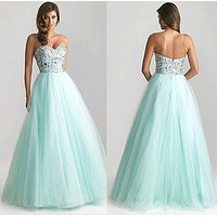 2016 Sexy Sequin Sleeveless backless Party dress Ball Prom Gown Formal Bridesmaids Long Dress