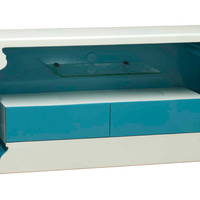 Indigo Inside-Out TV Unit, Blue/White, Media & TV