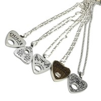 "1Pc Stainless Steel Ouija Heart Pendant Necklace with 24"" Chain Board Planchette Punk Choker Fashion Necklace Body Jewelry"