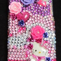 Crystal cell phone case Hello Kitty Customizable by ikissmykat