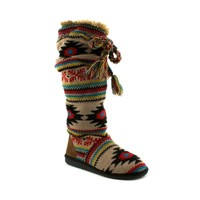 Womens Muk Luk Shayla Knit Boot, Natural Multi, at Journeys Shoes