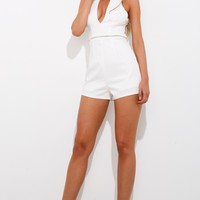 Innocent And Wild Playsuit White