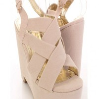 Nude Faux Suede Strappy Front Stylish Platform Wedges @ Amiclubwear Wedges Shoes Store:Wedge Shoes,Wedge Boots,Wedge Heels,Wedge Sandals,Dress Shoes,Summer Shoes,Spring Shoes,Prom Shoes,Women's Wedge Shoes,Wedge Platforms Shoes,floral wedges,Fashion Wedge