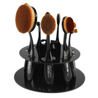 New Best Deal 2016Hot Sell Free Shipping Professional 10 Hole Oval Makeup Brush Holder Drying Rack Organizer Cosmetic Shelf Tool