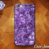 Purple Amethyst Gemstone Gem Rock Cute Tumblr Inspired Case For iPhone 5 5s 5c and iPhone 6 and 6 Plus + and iPhone SE iPhone 7 Plus Case