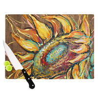 "Brienne Jepkema ""Sunflower"" Yellow Flower Cutting Board"