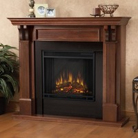 Real Flame Ashley Mahogany Electric 48-inch Fireplace | Overstock.com Shopping - The Best Deals on Indoor Fireplaces