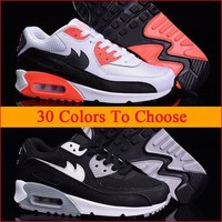 Drop Shipping Mens Womens 90 Running Shoes Black White Men Women Best Athletic Trainer