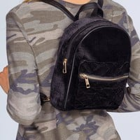 Be You Quilted Backpack - Black
