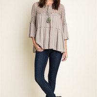 Peasant Lace Tunic Top