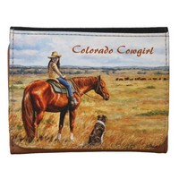 Little Cowgirl on Cattle Horse Wallets