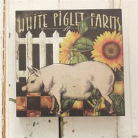 Rustic wall decor- Pig, perfect for a country farmhouse kitchen
