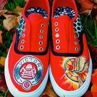The Hunger Games: Catching Fire Hand-Painted Sneakers
