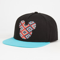 Neff Disney Collection Aztec Mickey Mens Snapback Hat Black One Size For Men 27064910001