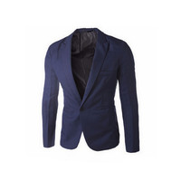 2016 Brand Clothing Blazer Men One Button Men Blazer Slim Fit Costume Homme Suit Jacket Masculine Blazer Size M-3XL