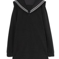 FLEECE SAILOR ONE-PIECE