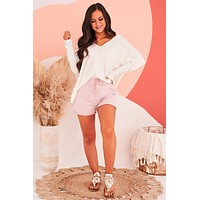 Coastal Winds Thermal Knit Hooded Top (Ivory)