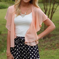 Butterfly Kisses Cardigan, Blush