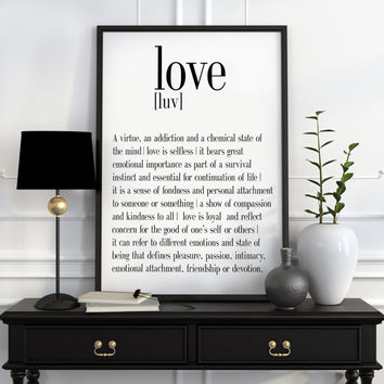 Definition of LoveFunny wall art Typography Print Funny Poster Name Definition Art Minimalist Art Art Print Instant Download Print ART
