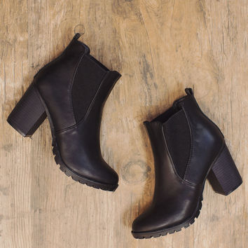Hey Wait Booties - Black