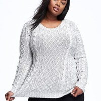 Classic Plus-Size Cable-Knit Sweater | Old Navy