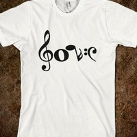 Love in music notes
