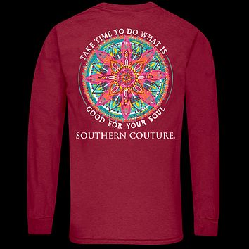 Southern Couture Classic Good For Soul Mandala Long Sleeve T-Shirt