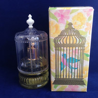 Vintage Perfume Bottle Tiny Birdcage Avon Song of Love Cologne Spray