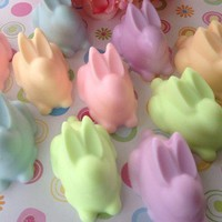 Bunny Soap   Easter Soap Handcrafted Glycerin Soaps For Kids