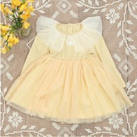 Vintage Inspired Girls Clothes Yellow Cotton Vintage Inspired Floral Sleeveless Dress For Girls | Vindie Baby