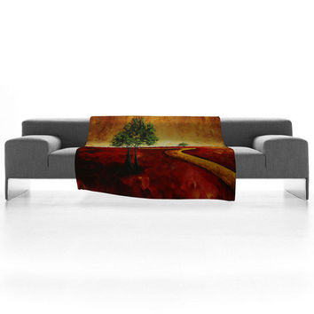 DENY Designs Home Accessories | Madart Inc. Road To Nowhere 2 Fleece Throw Blanket Sale Item