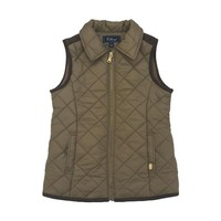 E-Land Girls Brown Quilted Vest
