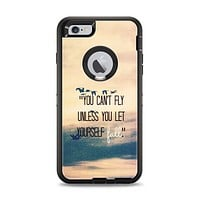 The Pastel Sunset You Cant Fly Unless You Let Yourself Fall Apple iPhone 6 Plus Otterbox Defender Case Skin Set