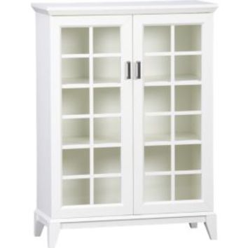 """Paterson White 36.5"""" Two-Door Cabinet"""