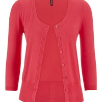The Classic Cardi In Solid Color With Scoop Neck