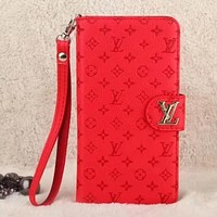 Louis Vuitton LV Fashion Leather iPhone Phone Cover Case For iphone 6 6s 6plus 6s-plus 7 7plus 8 8plus X