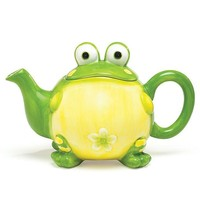 Teapot Ceramic Toby Toad