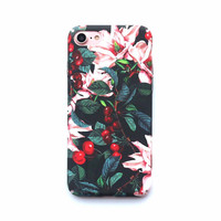 Cherry Floral Case For iPhone