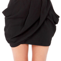 Lovely Layers Black Tulip Skirt