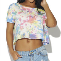 Tie Dye Crop Sweatshirt | Wet Seal