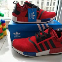 Adidas Fashion Casual Multicolor Stripe Sneakers Men Running Shoes
