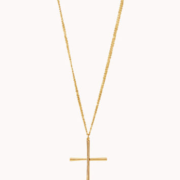 Double-Strand Cross Necklace