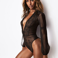 Chantilly Lace Long-sleeve Teddy - Very Sexy - Victoria's Secret