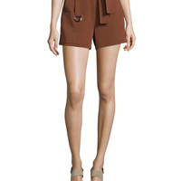 A.L.C. Lucille High-Rise Grommet Shorts, Henna