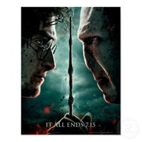 Harry Potter 7 Part 2 - Harry vs. Voldemort Poster from Zazzle.com