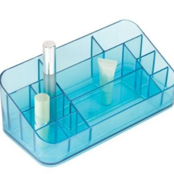 Vanity Makeup Cosmetic Beauty Storage Compact Solutions Organizer in - Aqua