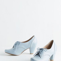 Menswear Inspired Swing Along Heel in Powder Blue