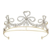 An early 20th century diamond scroll tiara - Bentley & Skinner