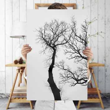 Black and White Tree Art Print - Minimalist Nature Photography, Digital Download | Botanical Decor by Mila Tovar